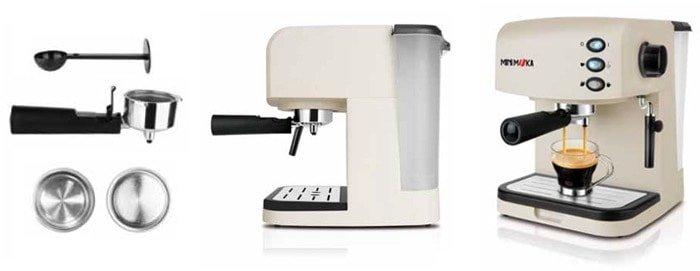 Mini Moka CM-1695 - Cafetera espresso manual