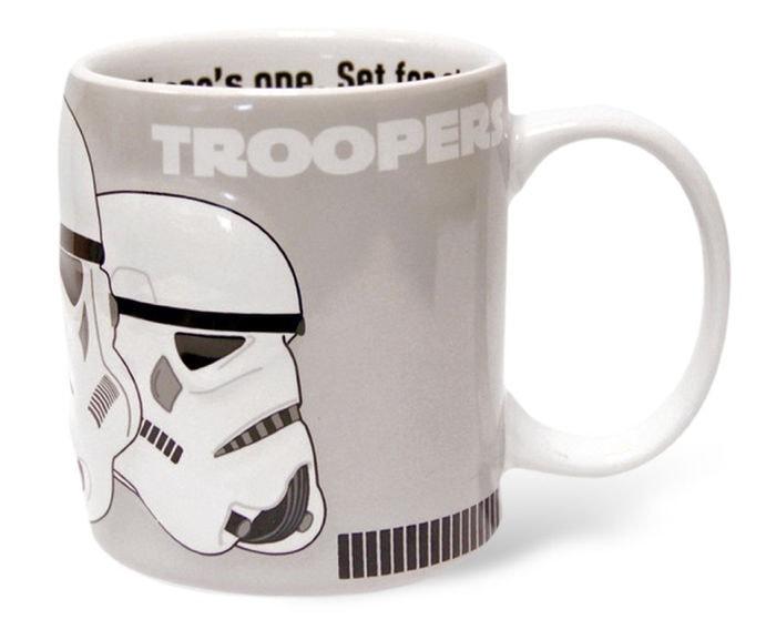 Taza de desayuno, diseño Soldado Imperial de Star Wars en 2D (Zeon)