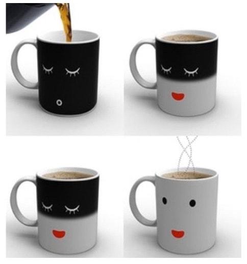 Taza Sonline sensible al calor: la taza que se alegra de verte cuando te echas el café por la mañana