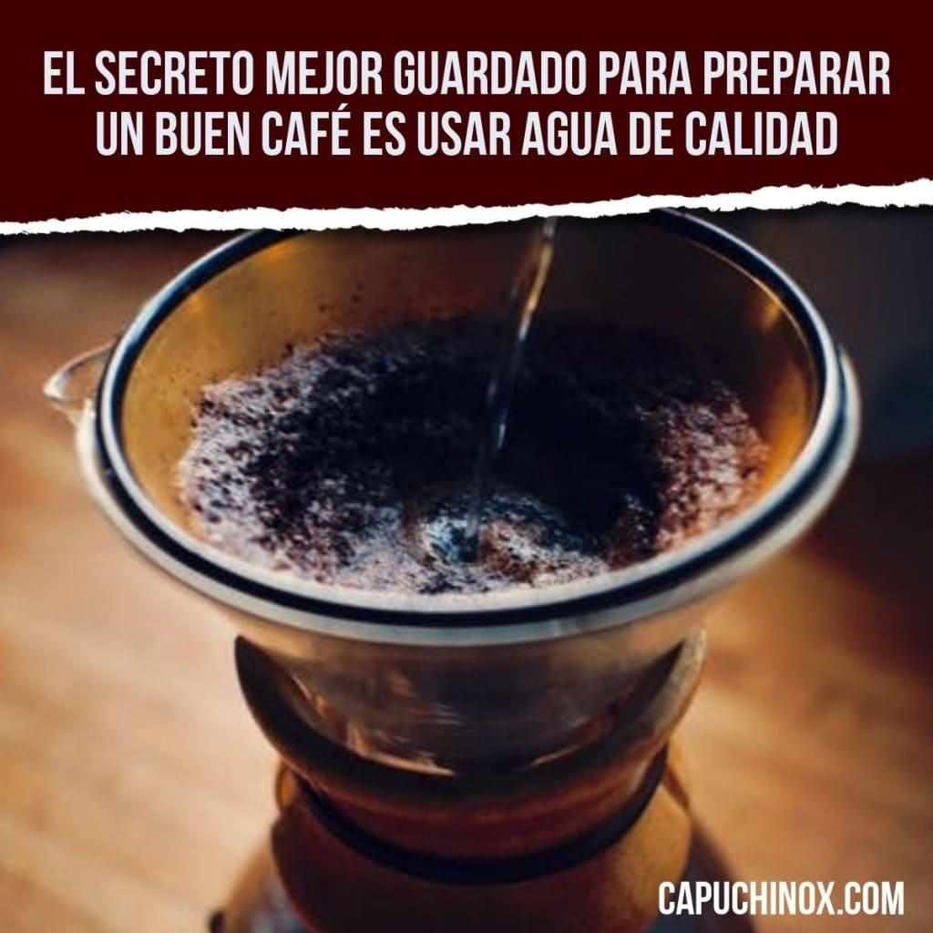 El secreto mejor guardado para preparar un buen café es usar agua de calidad