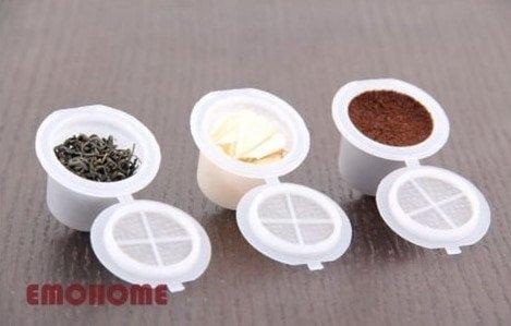 Cápsulas Nespresso rellenables y reutilizables de Emohome