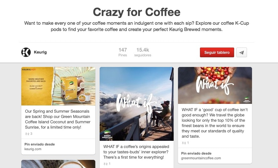 Crazy for Coffee Pinterest