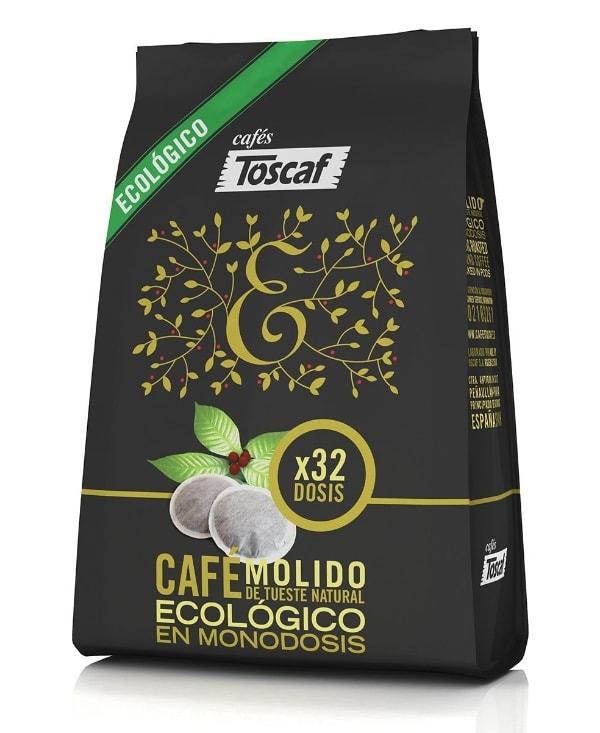 Toscaf Café Ecológico Natural - 5 Paquetes de 225 gr - Total: 1125 gr