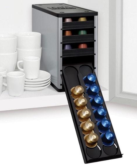 Cafe Stack - Armario organizador para cápsulas de café (60 cápsulas)
