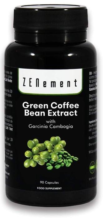 Extracto de Café Verde Natural con Garcinia Cambogia pura, 90 cápsulas