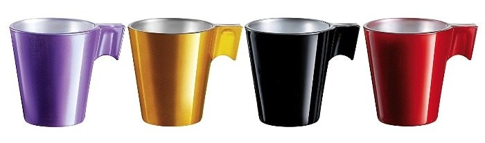 Luminarc Flashy Expresso - Set de 4 tazas, 8 cl