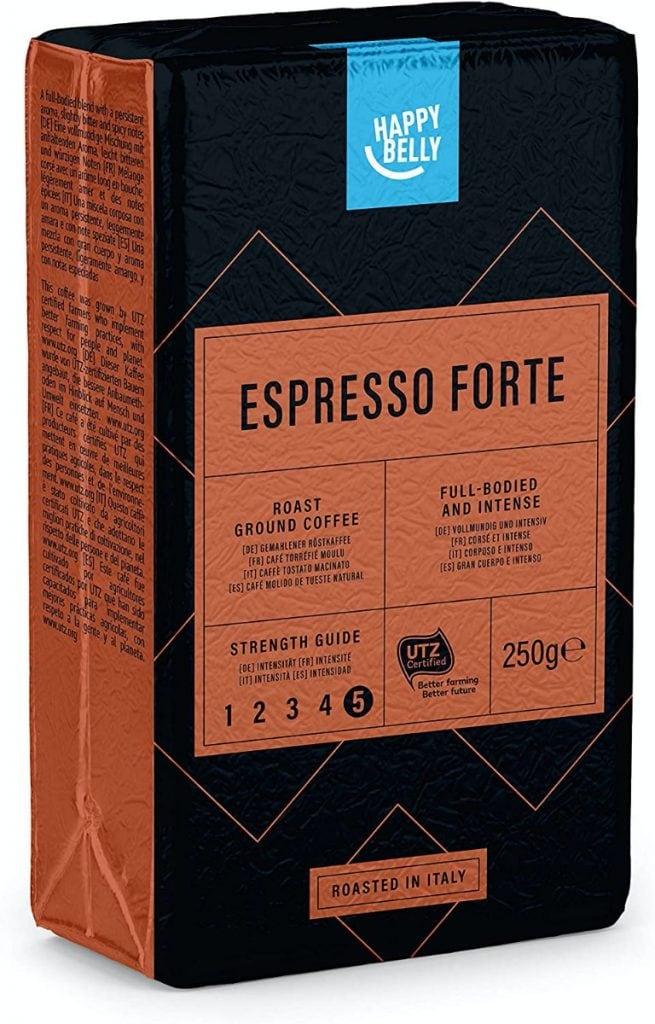 "Marca Amazon - Happy Belly Café molido ""Espresso Forte"" (4 x 250g)"