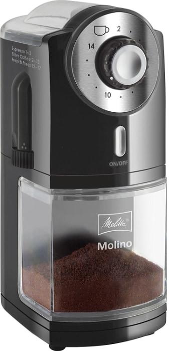 Mejor molinillo de café por menos de 50 euros: Melitta Molinillo de café eléctrico
