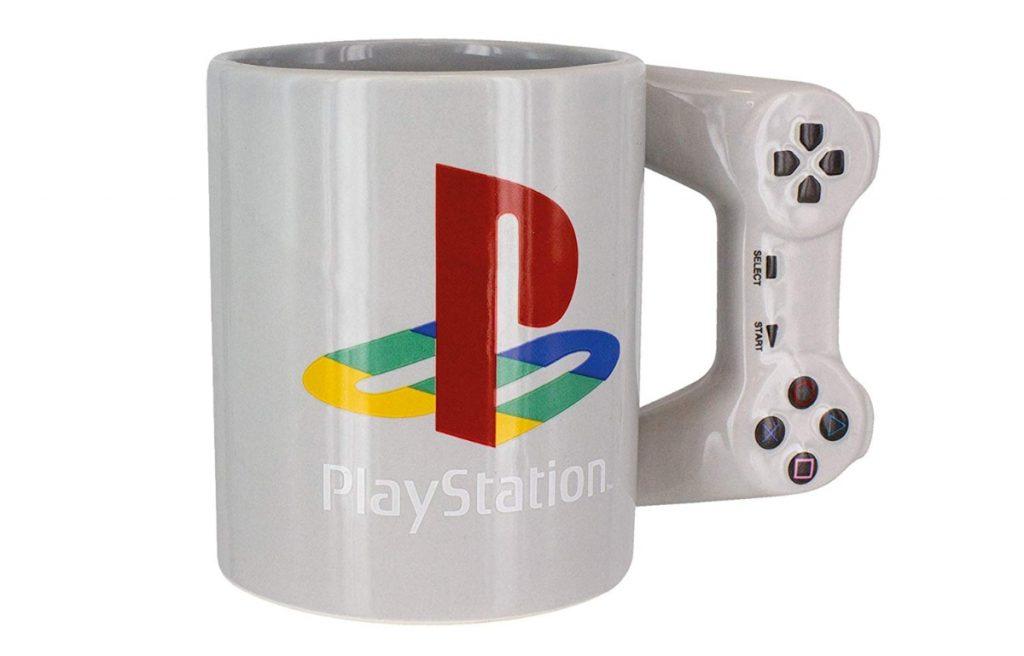 Taza de Playstation con mando de videojuegos