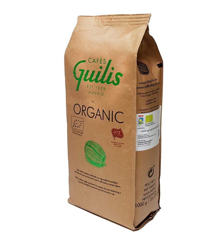 Café Guilis: Café Orgánico en grano arábica cultivo Bio ecológico natural. Tueste artesanal (1 kilogramo)