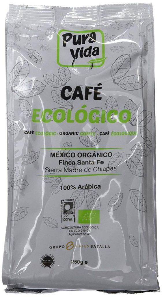 Pura Vida Café Ecológico Natural Molido - 4 Paquetes de 250 gr - Total: 1Kg