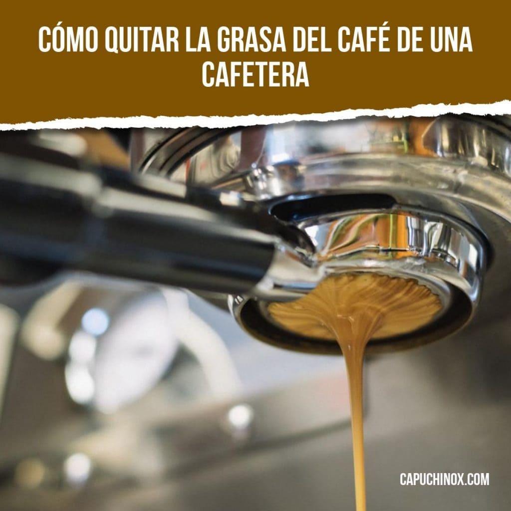 Cómo quitar la grasa del café de una cafetera