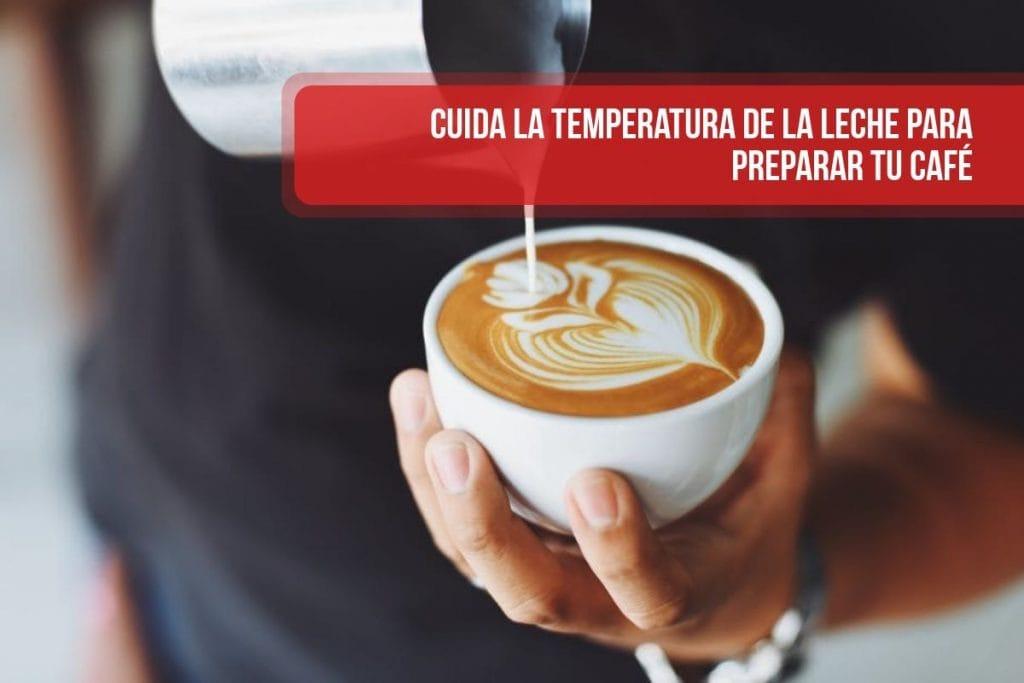Cuida la temperatura de la leche para preparar tu café