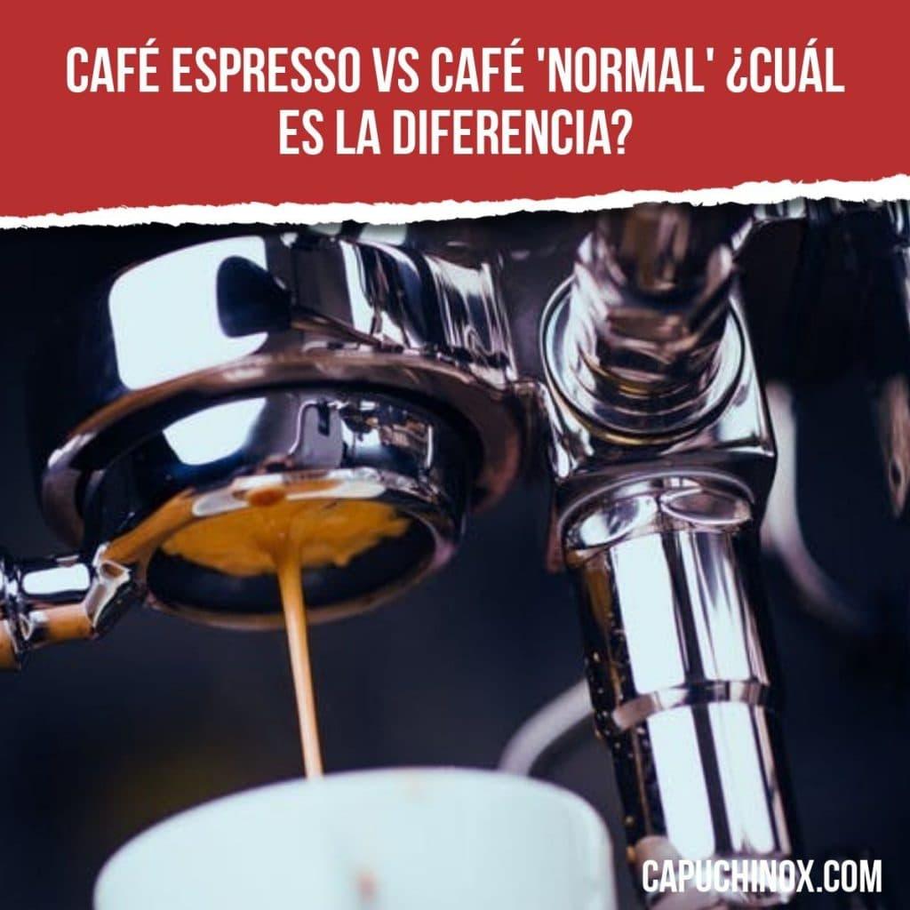 Diferencia entre el café espresso y el café 'normal'