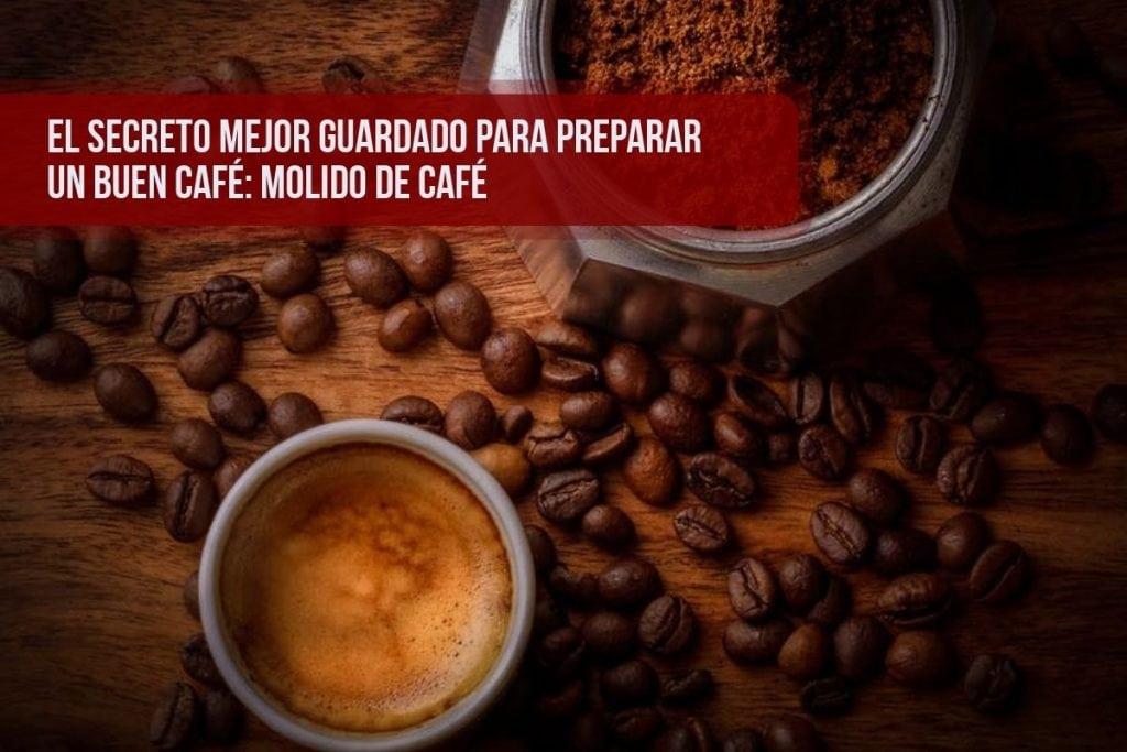 El molido del café debe ser el correcto para que el agua extraiga bien el café
