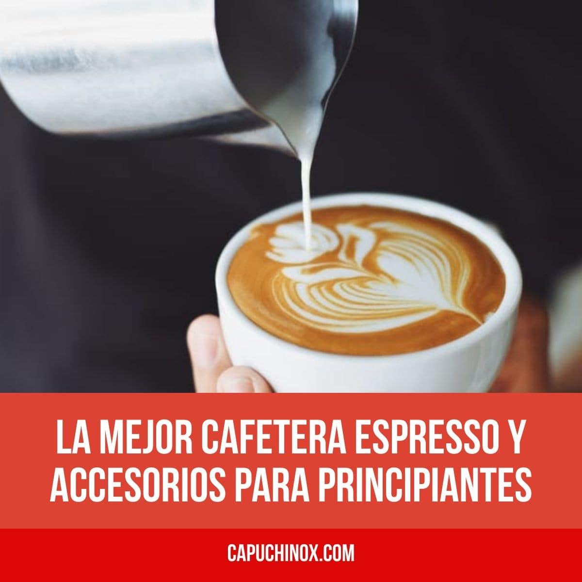 La mejor cafetera espresso y accesorios para principiantes (tazas de café, prensadores, jarras de leche, molinillo)