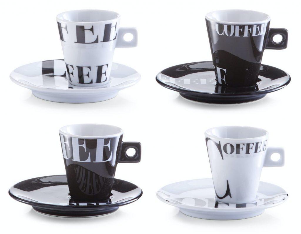 Zeller 26540 - Servicio de Café Expreso en porcelana