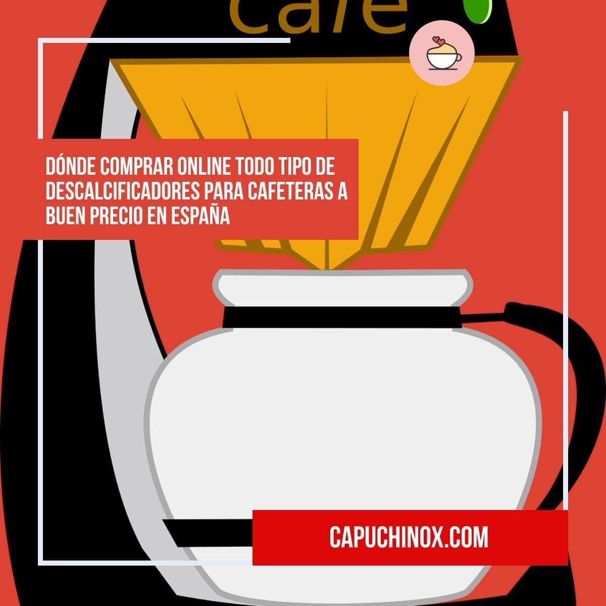 ¿Dónde podemos comprar online líquidos o pastillas descalcificadoras para cafeteras?