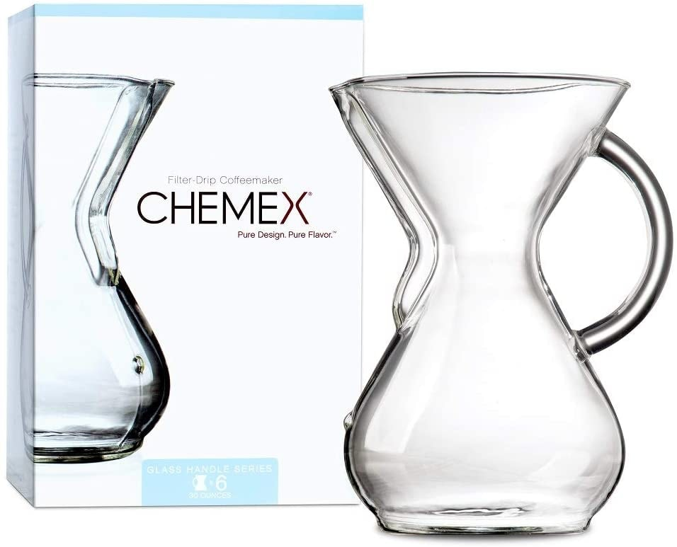 Chemex Cafetera de 6 Tazas (880 ml) con Mango de Cristal