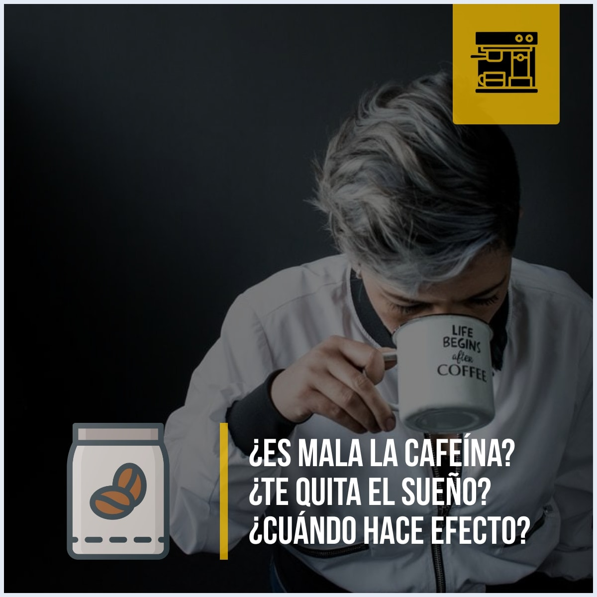 Preguntas sobre la cafeina: ¿Es mala la cafeína? ¿Te quita el sueño? ¿Cuándo hace efecto?