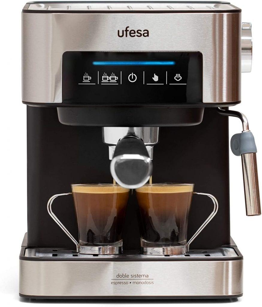 Ufesa CE7255 Cafetera Expresso y Capuccino con Panel Táctil Digital