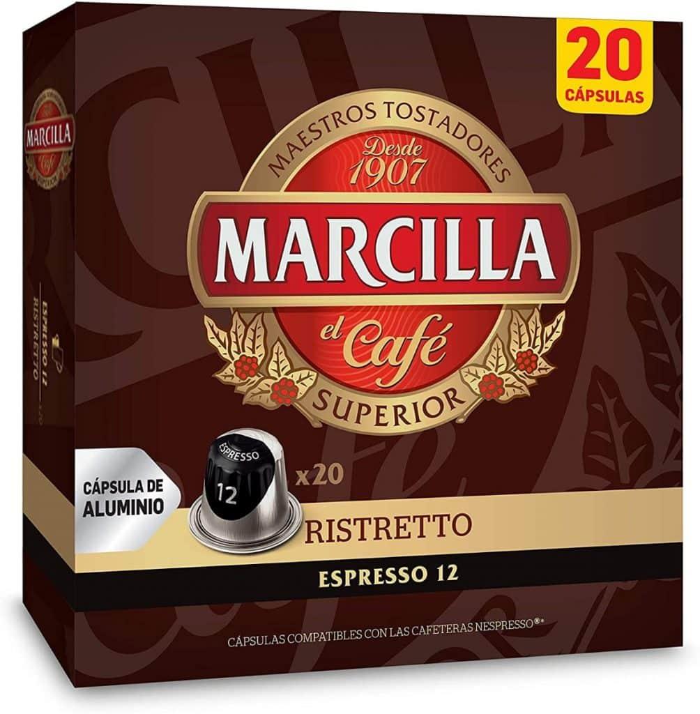 Marcilla Café Ristretto - 200 cápsulas compatibles con máquinas Nespresso