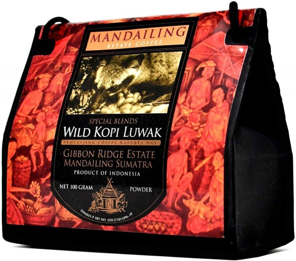 Kopi Luwak Natural (Molido Fino) - El café más raro del mundo