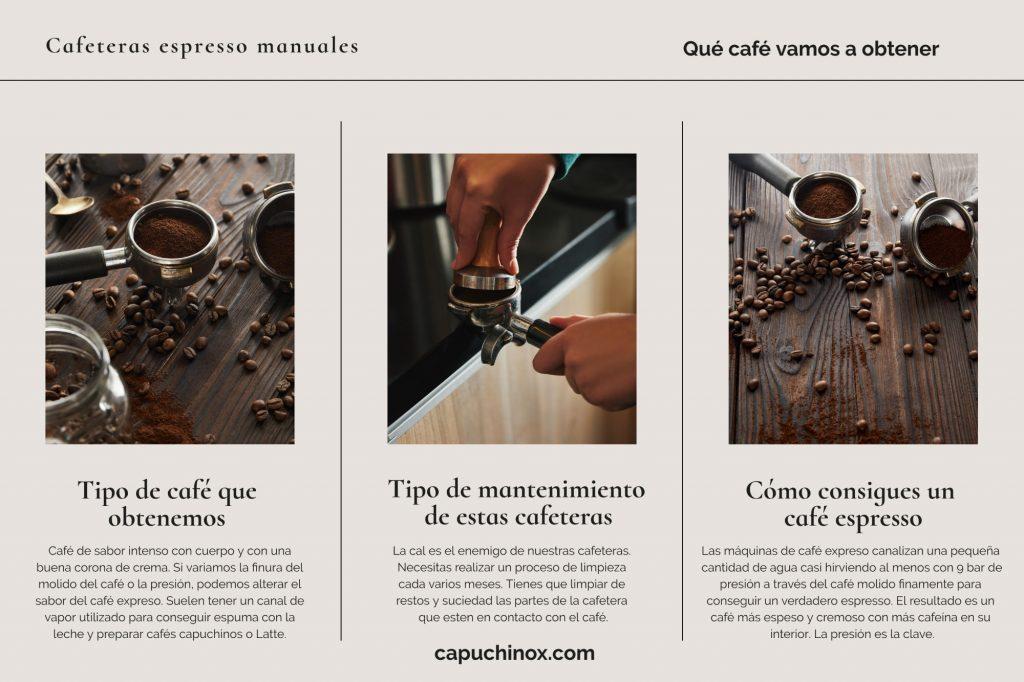 Qué café vamos a obtener y mantenimiento de estas cafeteras