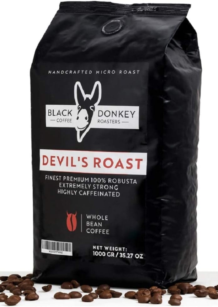 DEVIL'S ROAST -  100% Robusta de Black Donkey Coffee Roasters (1 kg)