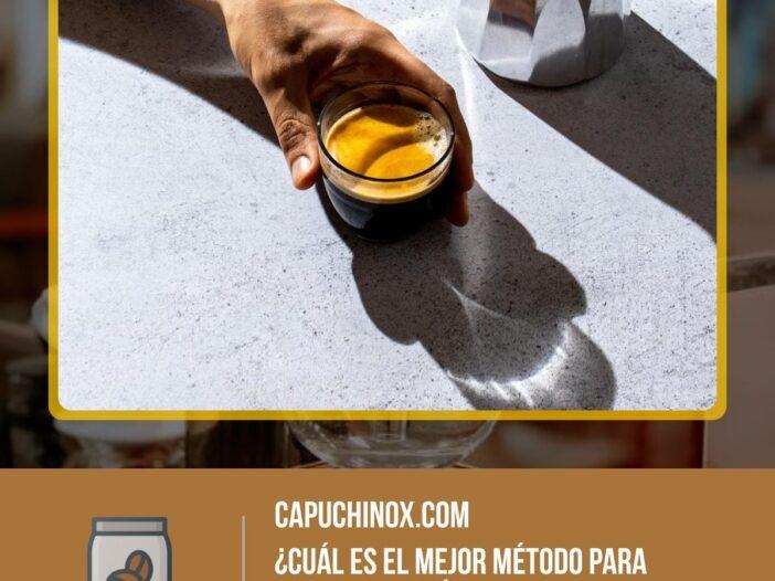 ¿Cuál es el mejor método para preparar café?