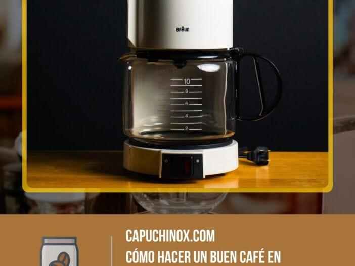 Cómo hacer un buen café en cafeteras de goteo